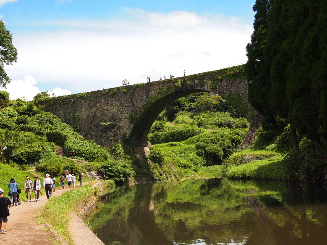 【見】水が出てなくても割と楽しめる、通潤橋